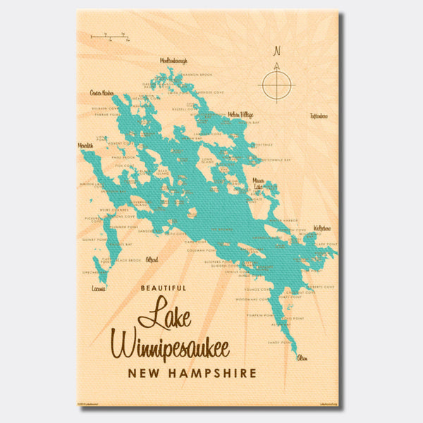 Lake Winnipesaukee New Hampshire, Canvas Print