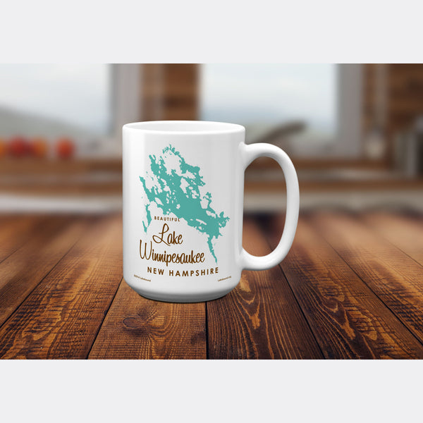 Lake Winnipesaukee New Hampshire, 15oz Mug
