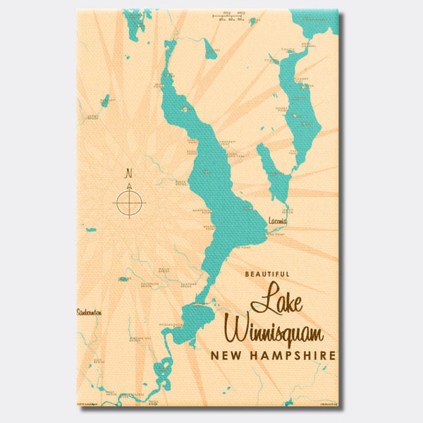 Lake Winnisquam New Hampshire, Canvas Print