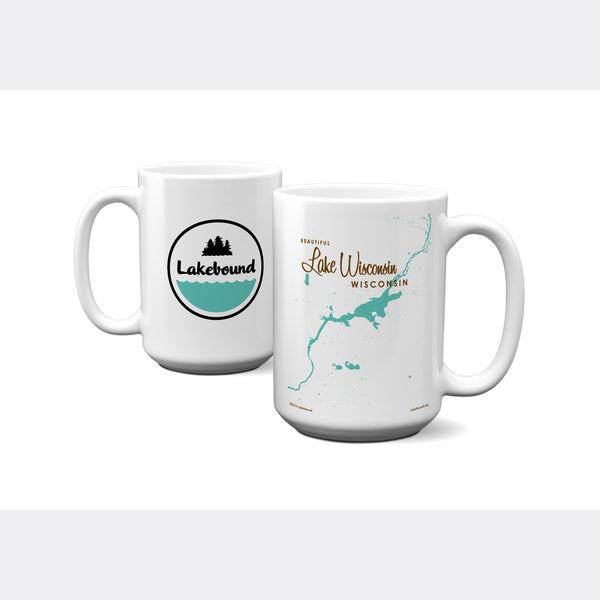 Lake Wisconsin Wisconsin, 15oz Mug