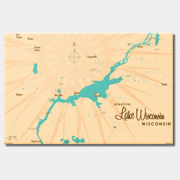 Lake Wisconsin Wisconsin, Canvas Print