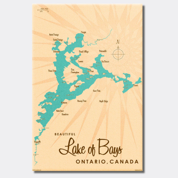 Lake of Bays Ontario, Canvas Print
