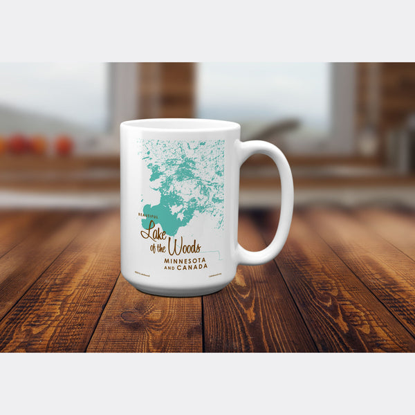 Lake of the Woods Minnesota, 15oz Mug