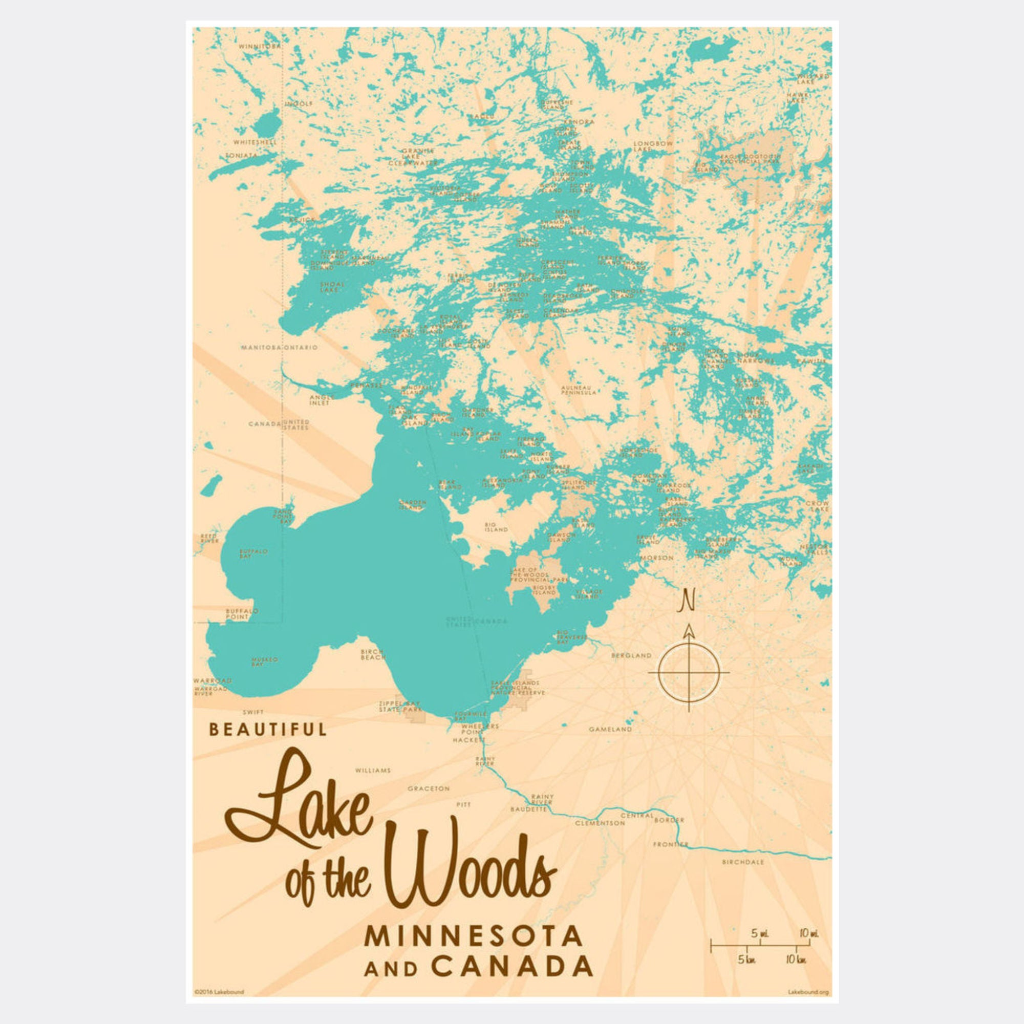 Lake of the Woods Minnesota, Paper Print
