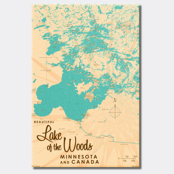 Lake of the Woods Minnesota, Canvas Print
