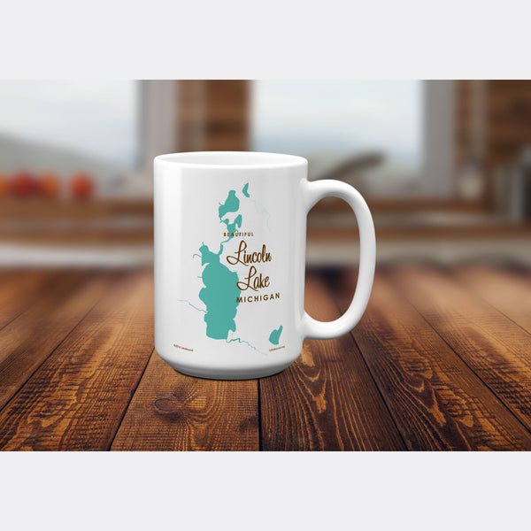 Lincoln Lake Michigan, 15oz Mug