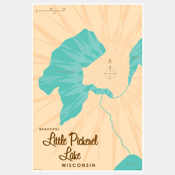 Little Pickerel Lake Wisconsin, Paper Print
