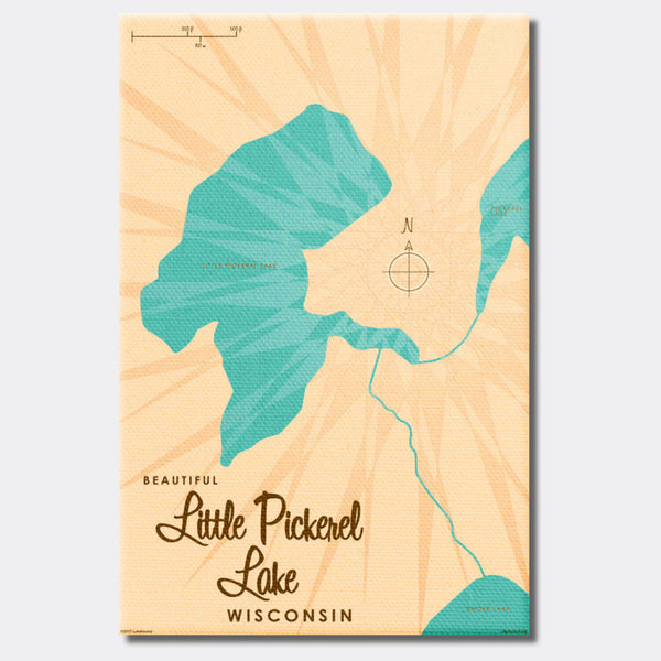Little Pickerel Lake Wisconsin, Canvas Print