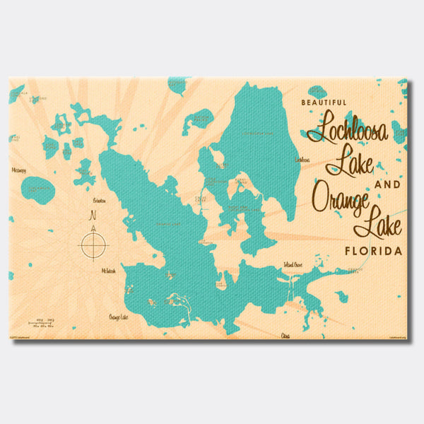 Lochloosa & Orange Lakes Florida, Canvas Print