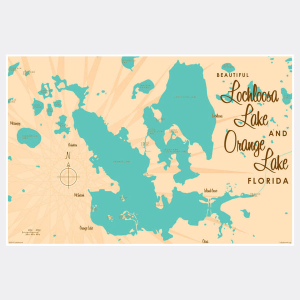 Lochloosa & Orange Lakes Florida, Paper Print