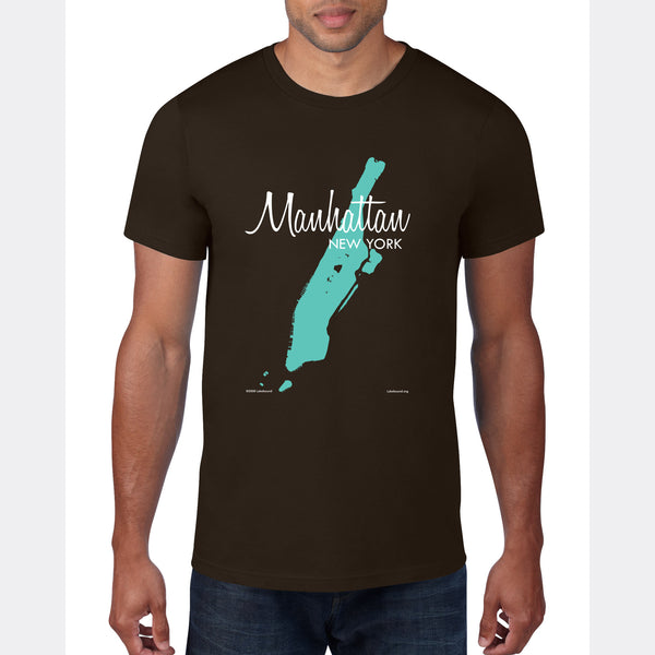 Manhattan Map, T-Shirt