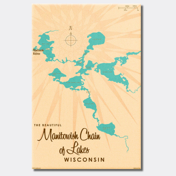 Manitowish Chain of Lakes Wisconsin, Canvas Print