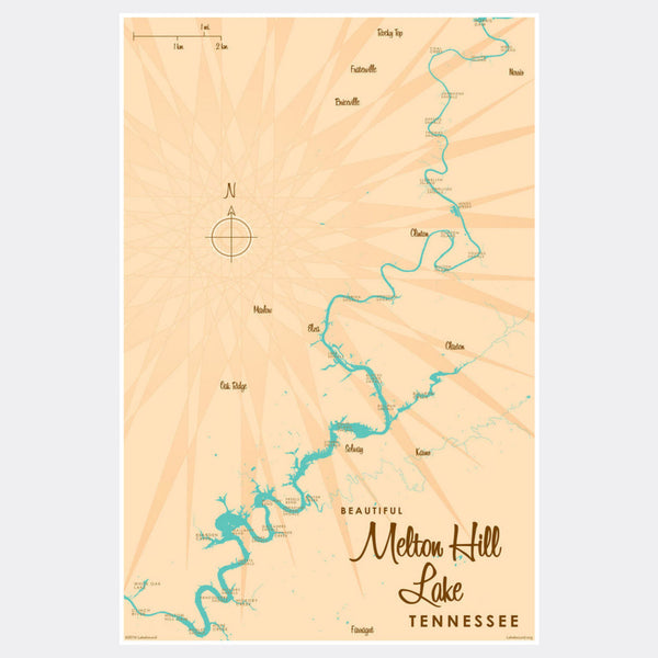 Melton Hill Lake Tennessee, Paper Print