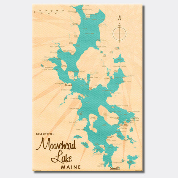 Moosehead Lake Maine, Canvas Print