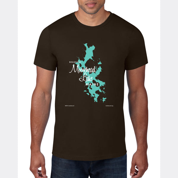 Moosehead Lake Maine, T-Shirt Map Art