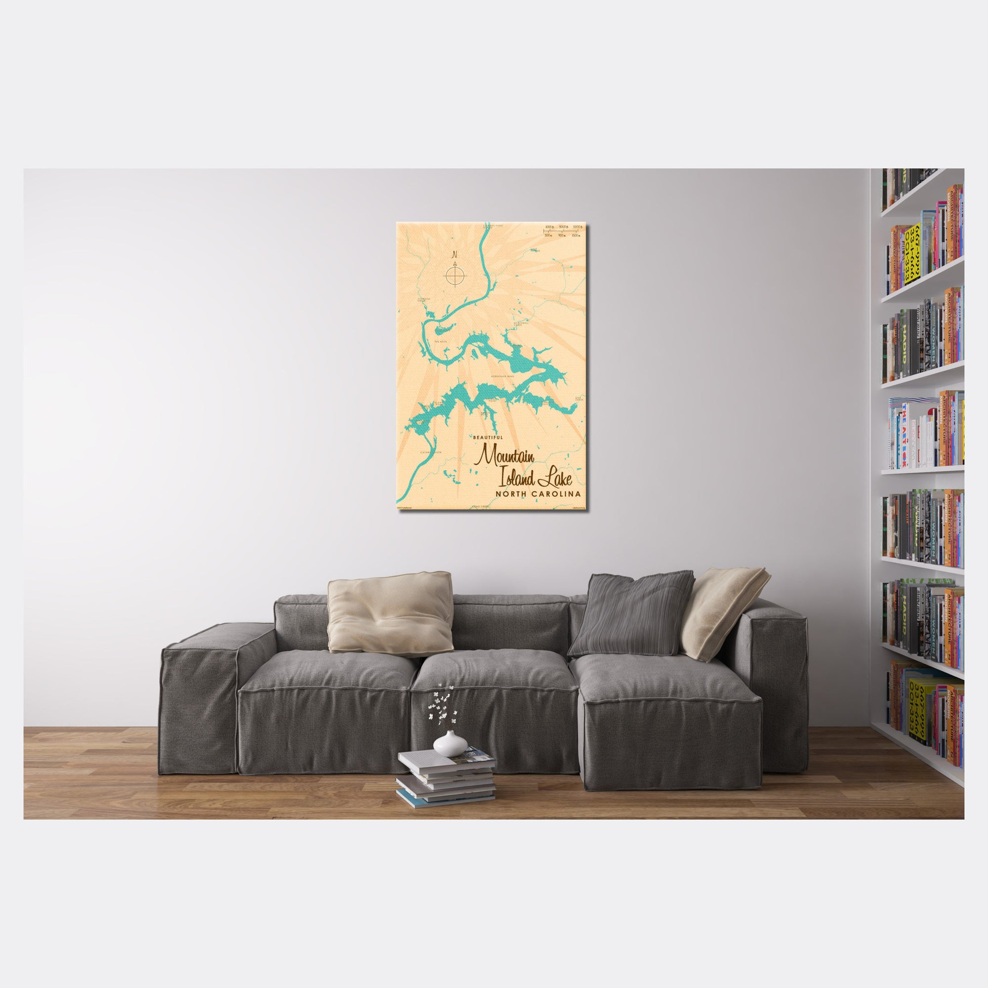 Mountain Island Lake North Carolina, Canvas Print