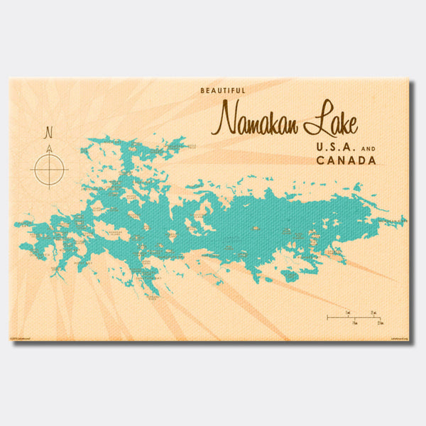Namakan Lake Minnesota, Canvas Print