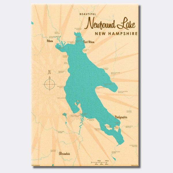 Newfound Lake New Hampshire, Canvas Print