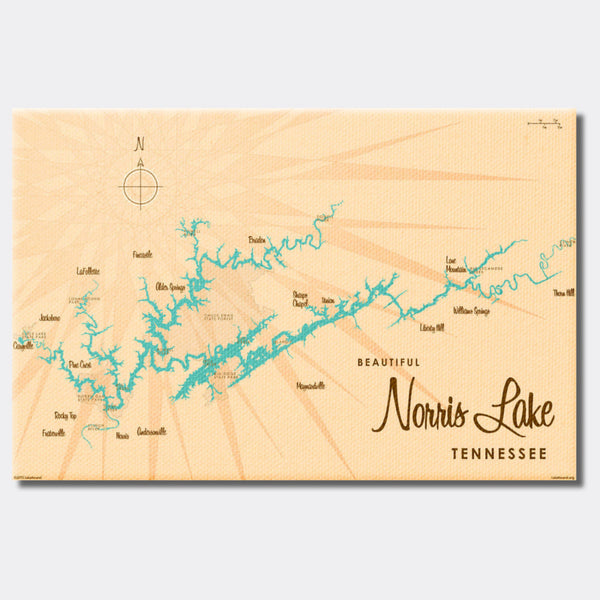 Norris Lake Tennessee, Canvas Print