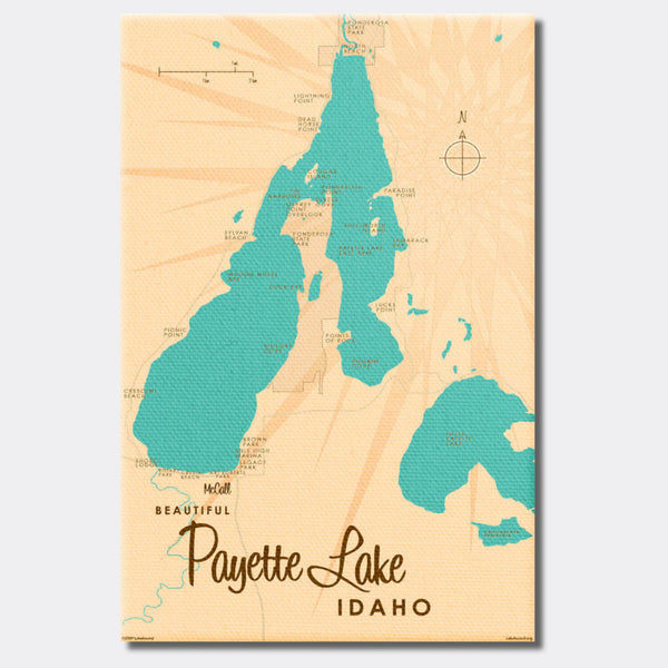 Payette Lake Idaho, Canvas Print