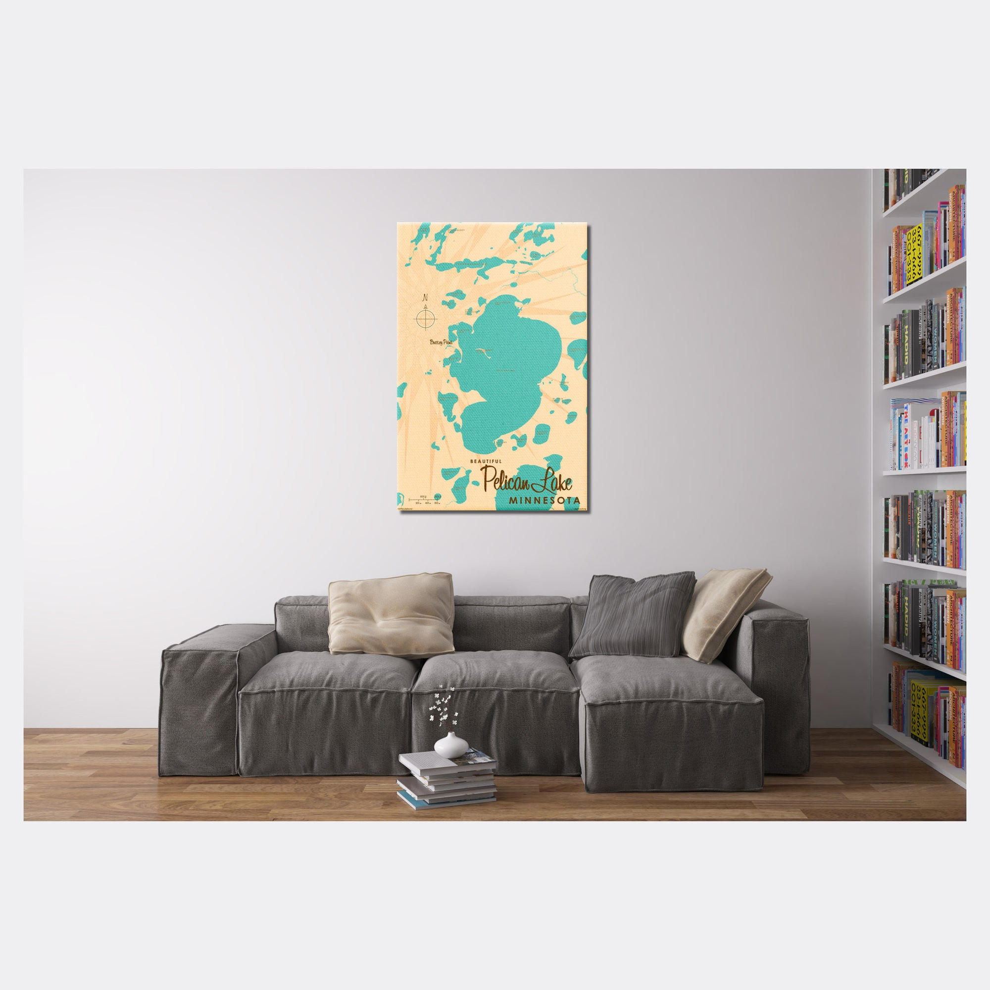 Pelican Lake Crow Wing County Minnesota, Canvas Print