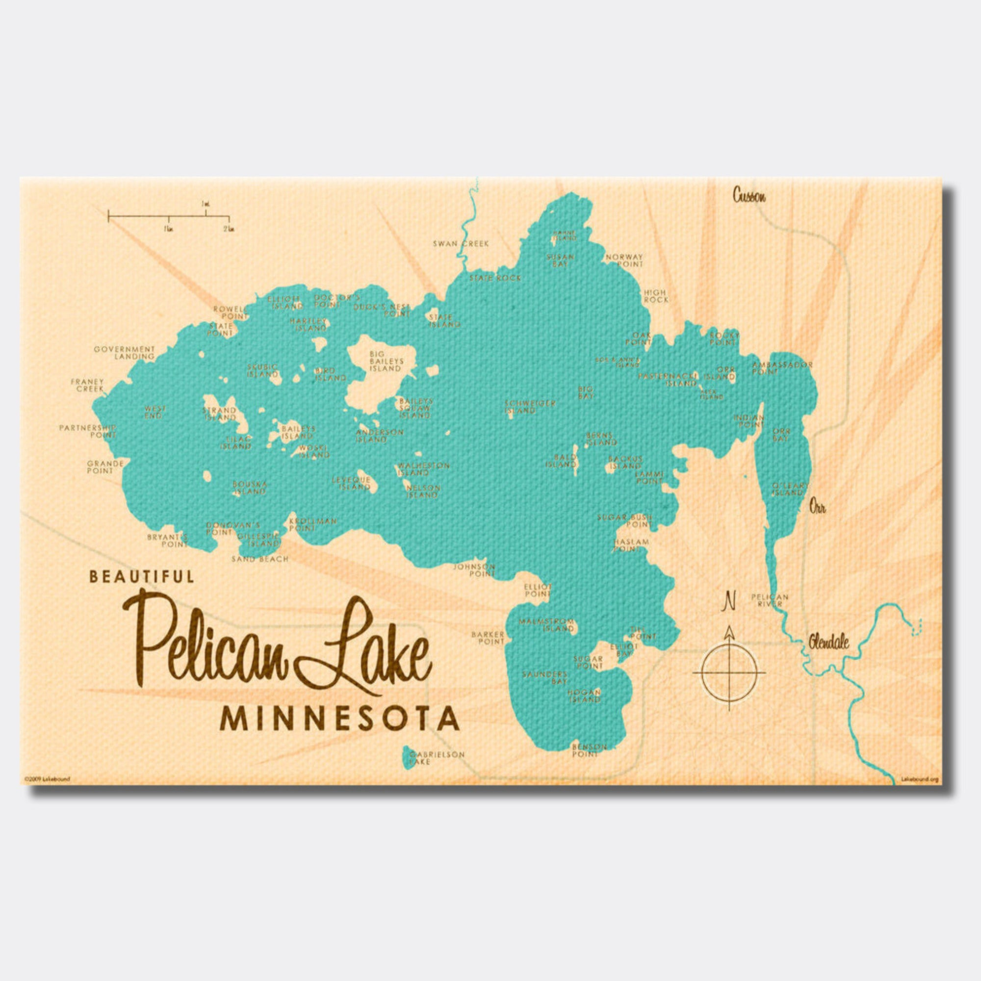 Pelican Lake St. Louis County Minnesota, Canvas Print