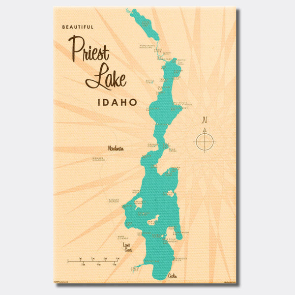 Priest Lake Idaho, Canvas Print