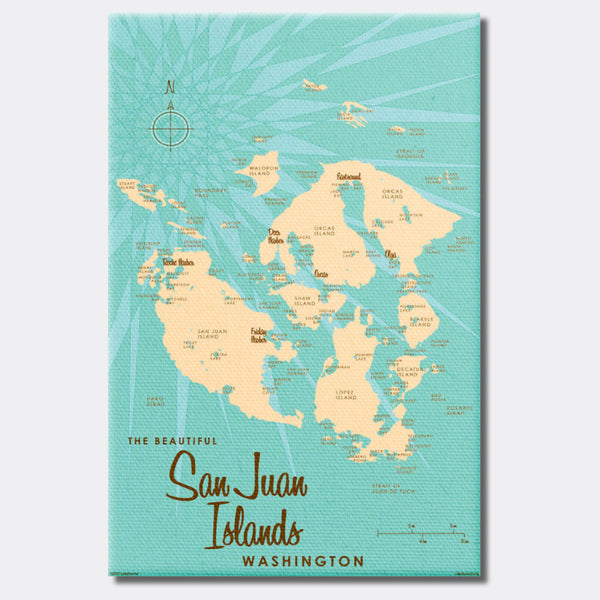 San Juan Islands Washington, Canvas Print