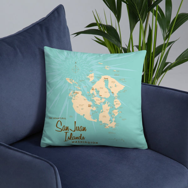 San Juan Islands Washington Pillow