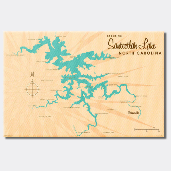 Santeetlah Lake North Carolina, Canvas Print