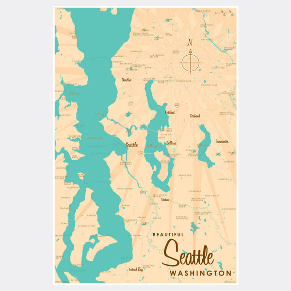 Seattle Washington, Paper Print