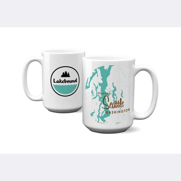 Seattle Washington, 15oz Mug