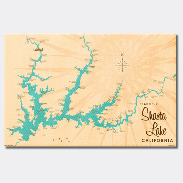 Shasta Lake California, Canvas Print