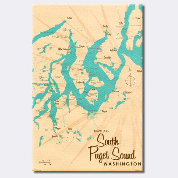 South Puget Sound Washington, Canvas Print