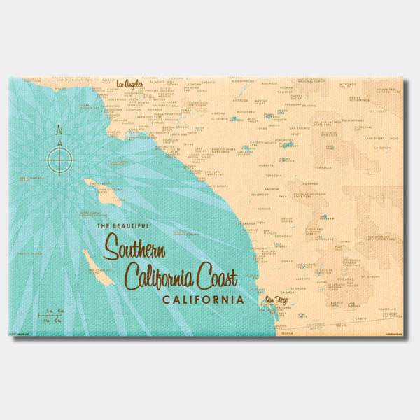 Southern CA Coast, Canvas Print