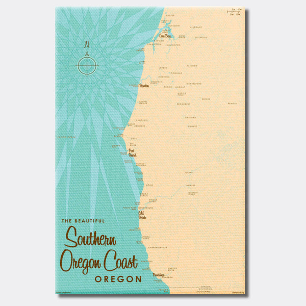 Southern Oregon Coast Oregon, Canvas Print