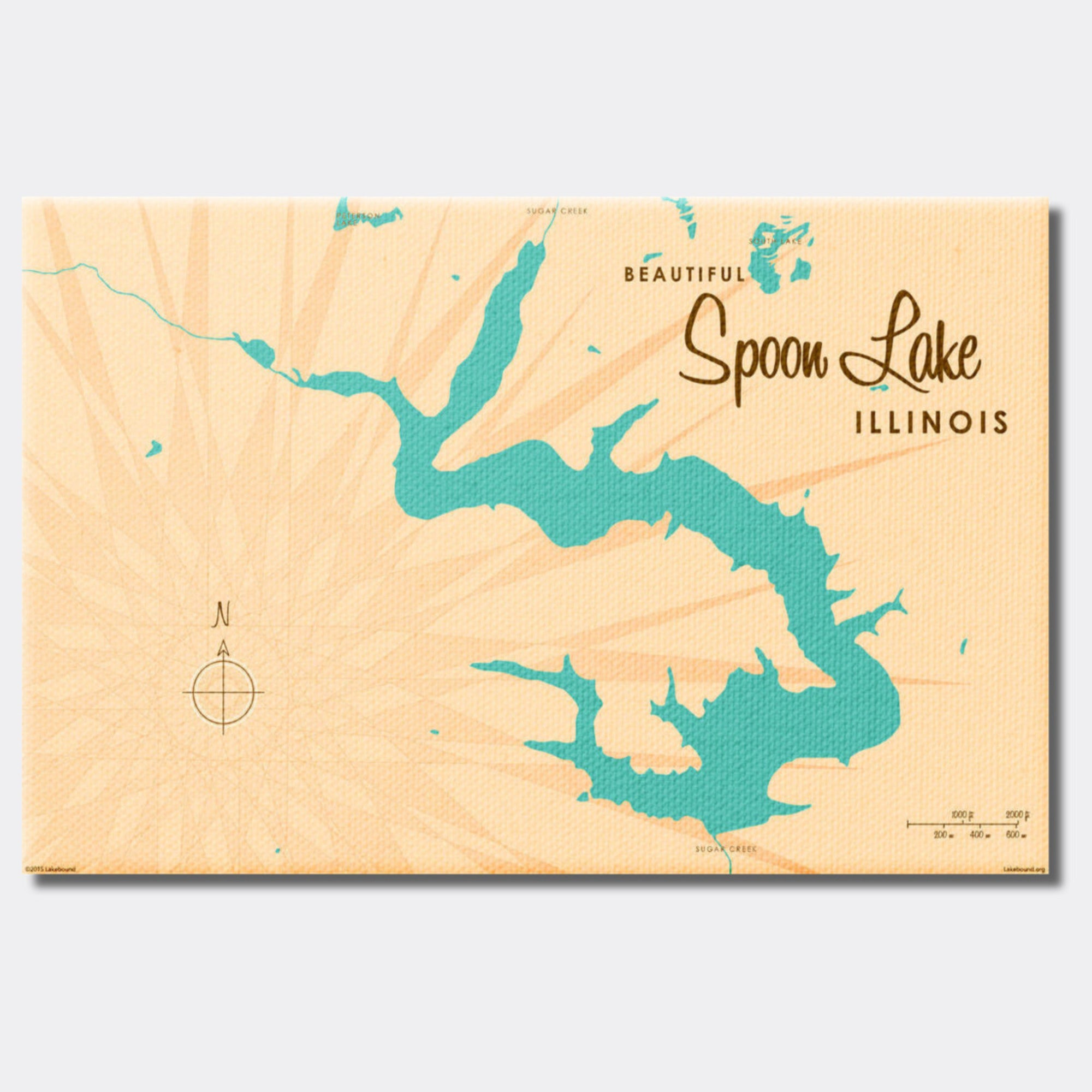 Spoon Lake Illinois, Canvas Print