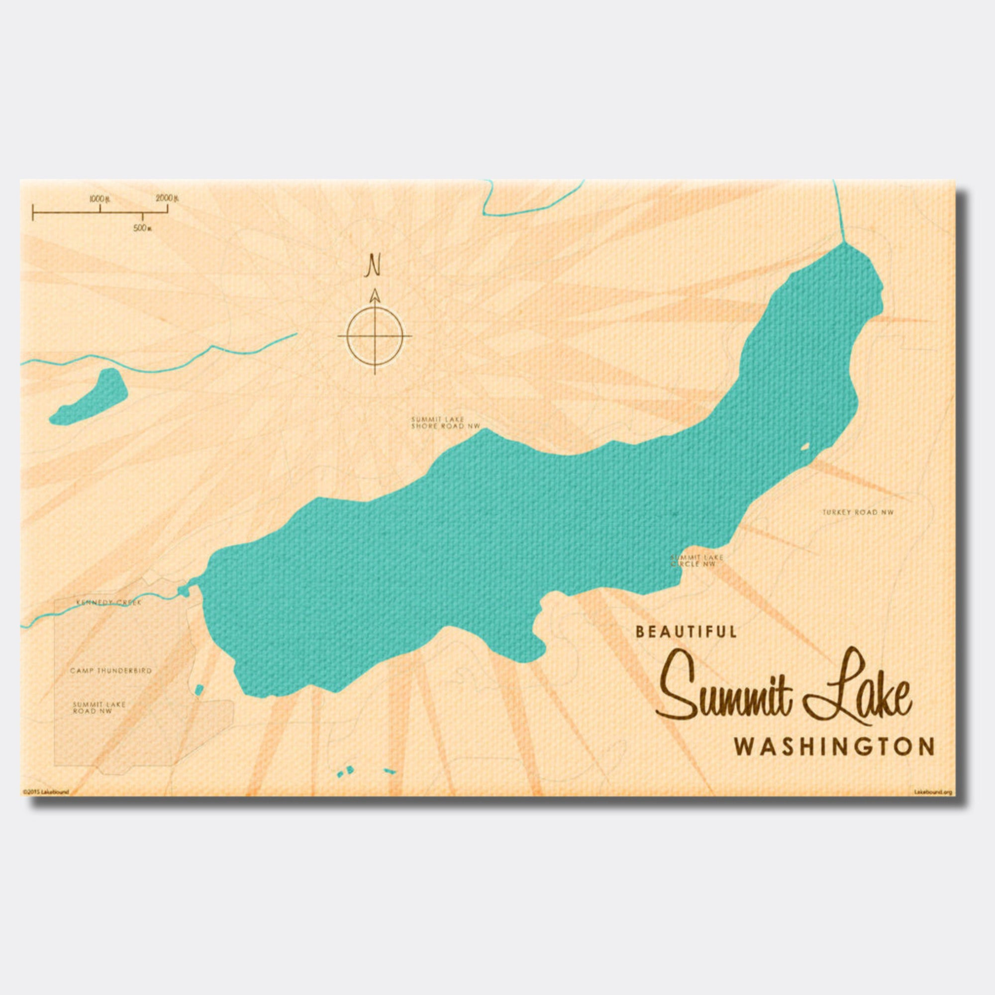 Summit Lake Washington, Canvas Print