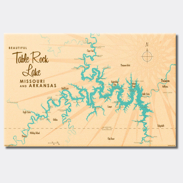 Table Rock Lake Missouri, Canvas Print