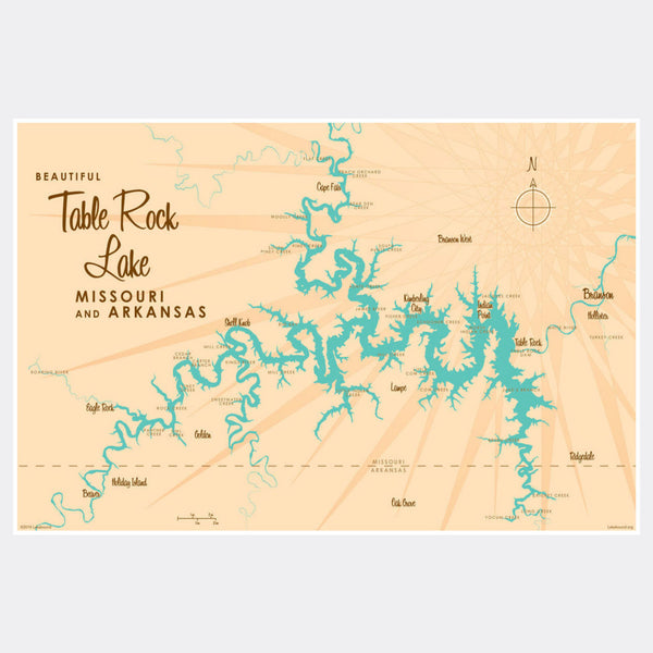 Table Rock Lake Missouri, Paper Print