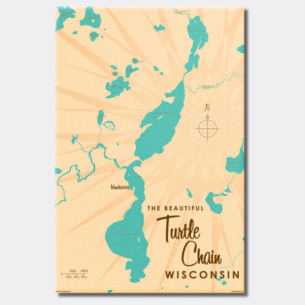 Turtle Chain Wisconsin, Canvas Print