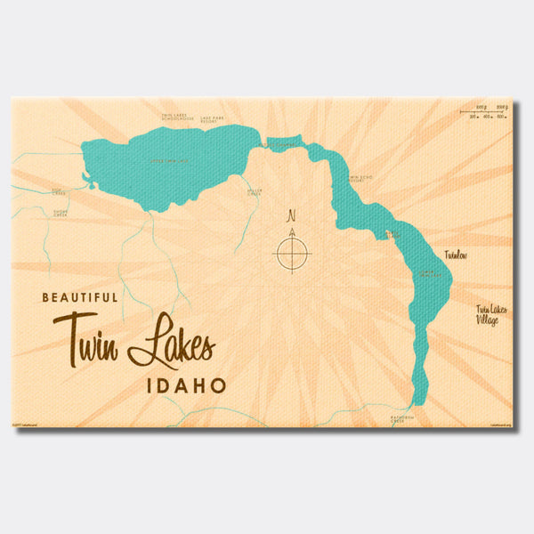 Twin Lakes Idaho, Canvas Print