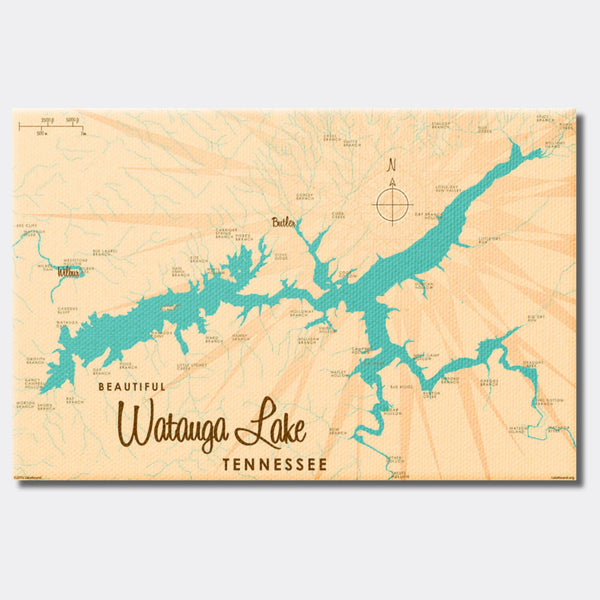 Watauga Lake Tennessee, Canvas Print