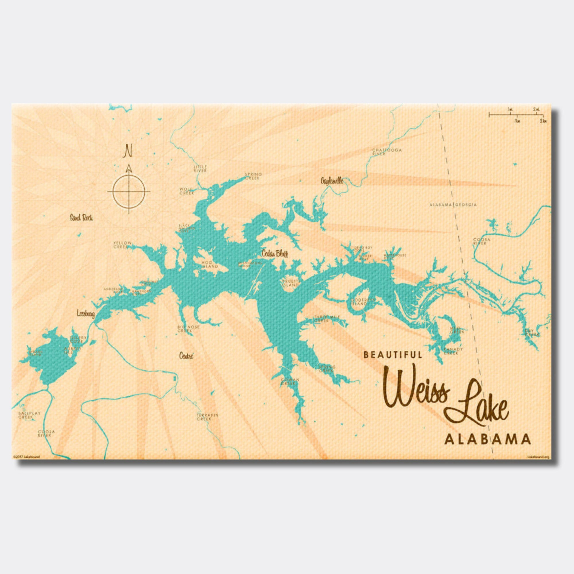 Weiss Lake Alabama, Canvas Print