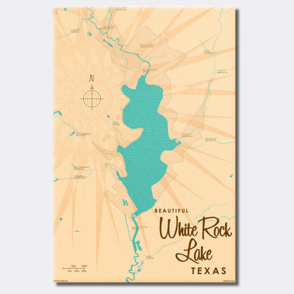 White Rock Lake Texas, Canvas Print