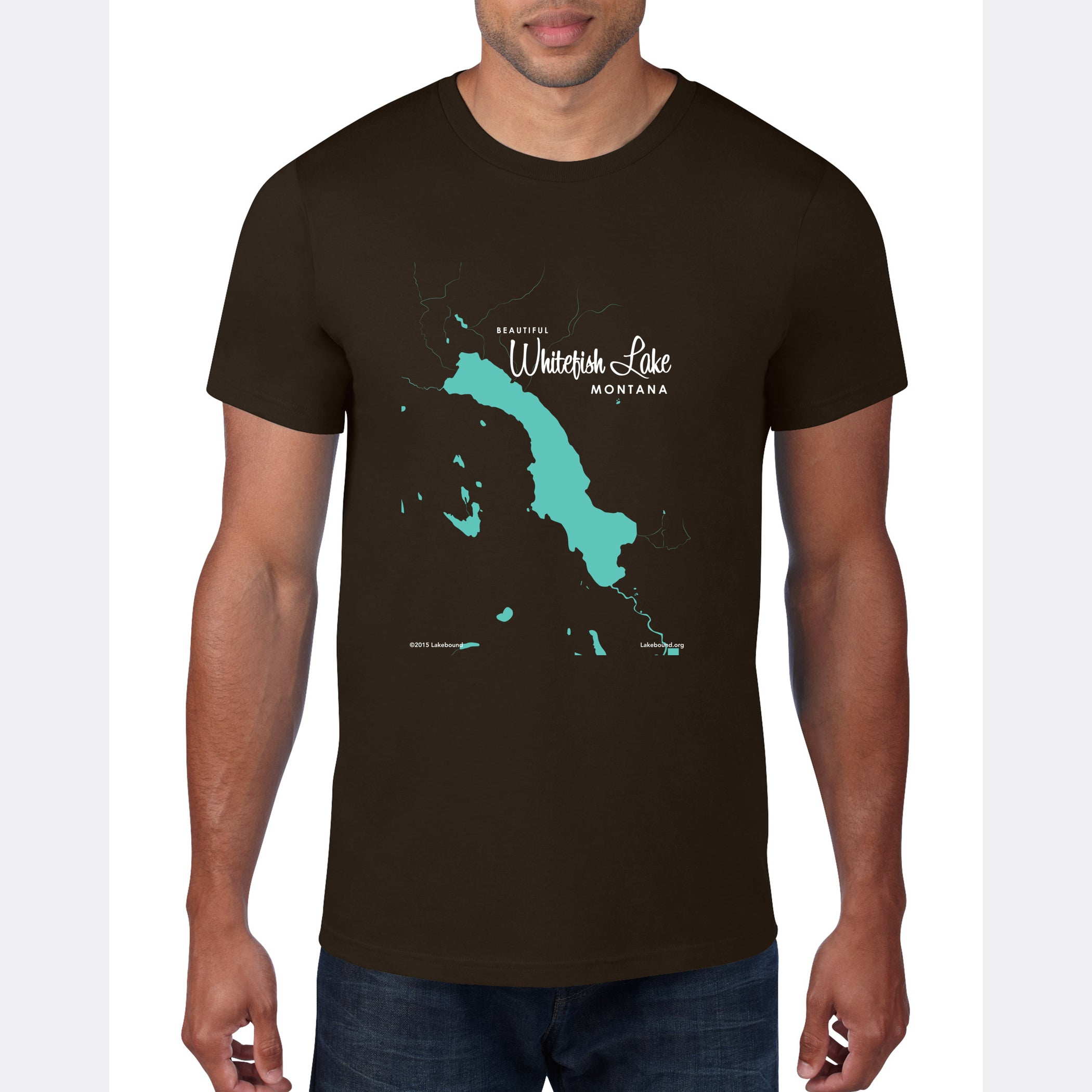 Whitefish Lake Montana, T-Shirt