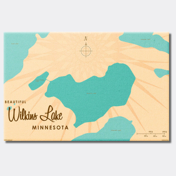 Wilkins Lake Minnesota, Canvas Print
