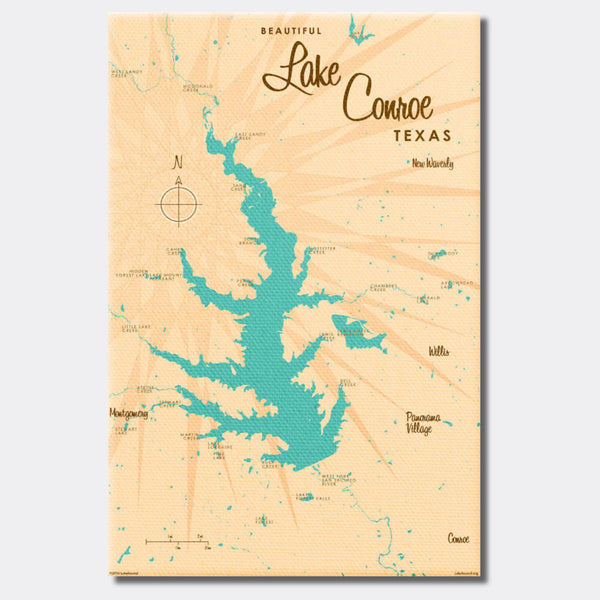 Lake Conroe , Canvas Print