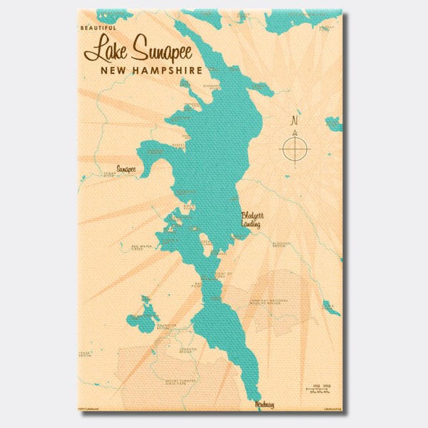 Lake Sunapee , Canvas Print