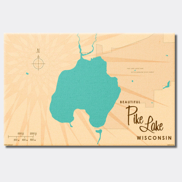 Pike Lake , Canvas Print